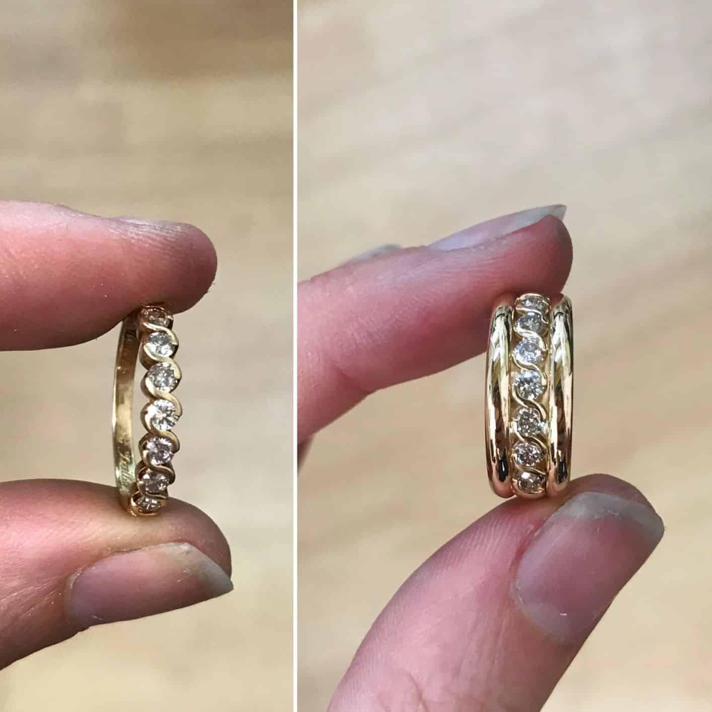 alliance or et diamant nouveau look